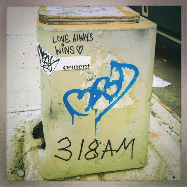 LOVE CITY. 11th Avenue. 8:42am.