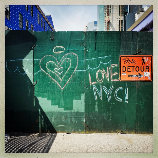 LOVE CITY. South Street. 10:32am.